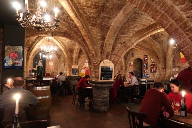 Le Trappiste medieval bar in Bruges Belgium
