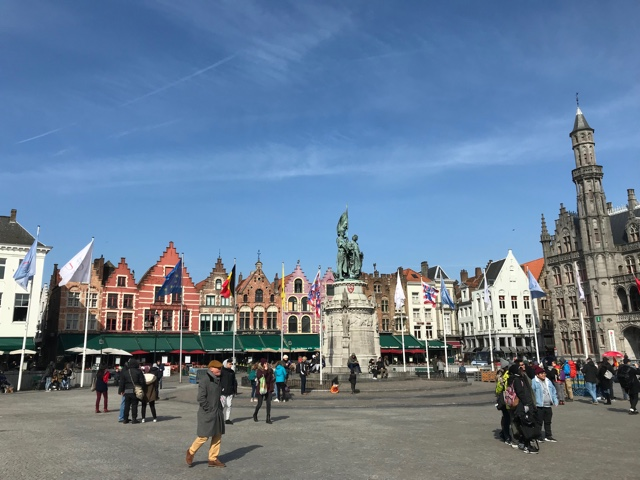what to do in Bruges the markt square meeting place in Bruges Belgium