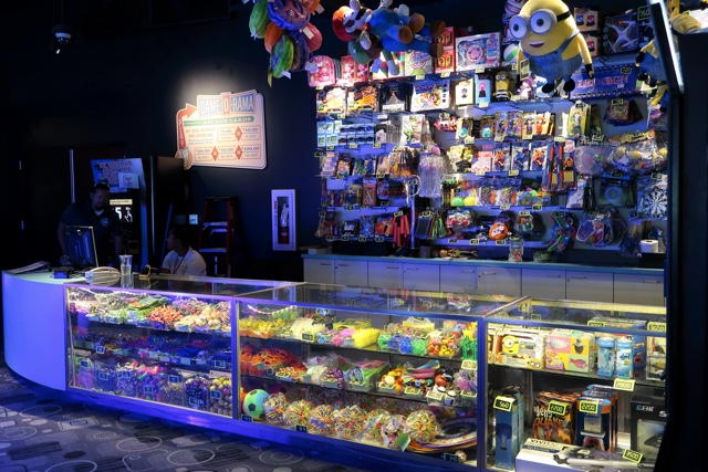 prizes to be won at the cabana bay arcade