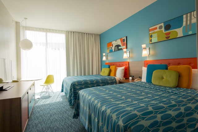 what are the rooms like at the cabana bay beach resort
