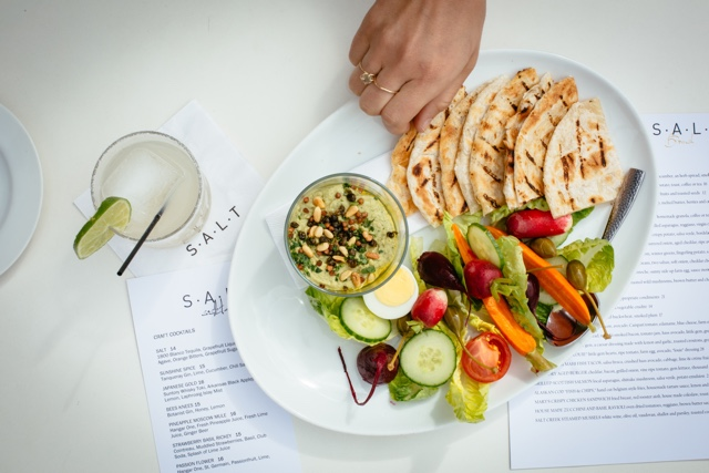 avocado hummus from salt restaurant and bar - Marina Del Rey Hotel Los Angeles Review