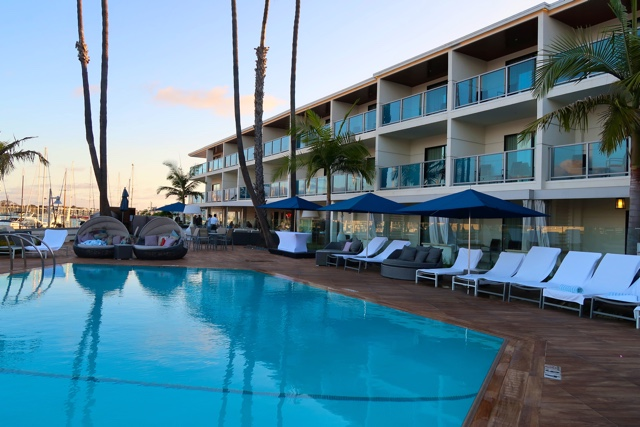 heated pool and sundeck - marina del rey hotel los angeles review