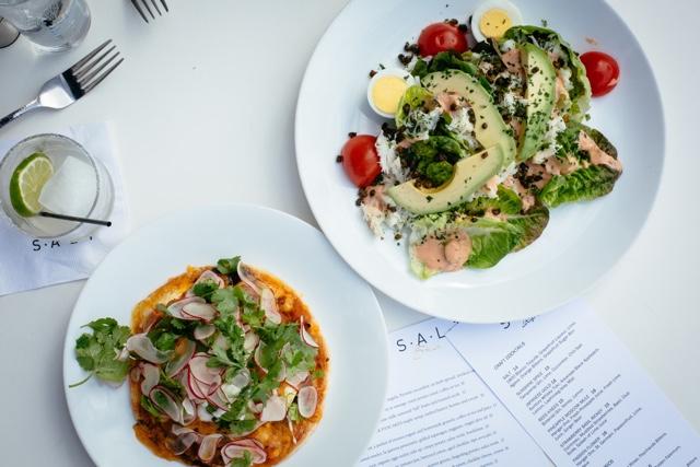 huevos and crab louie salad - Marina Del Rey Hotel Los Angeles Review