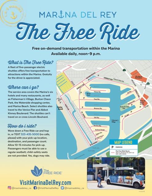 marina del rey Free Ride shuttle - Marina Del Rey Hotel Los Angeles Review
