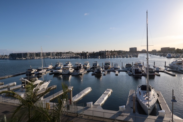 view of marina del rey from the marina del rey hotel
