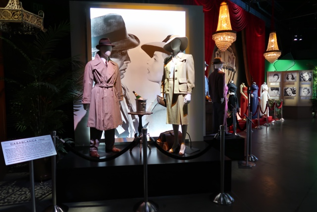 a history of costumes from Casablanca and classic films at stage 48 warner brothers studio tour