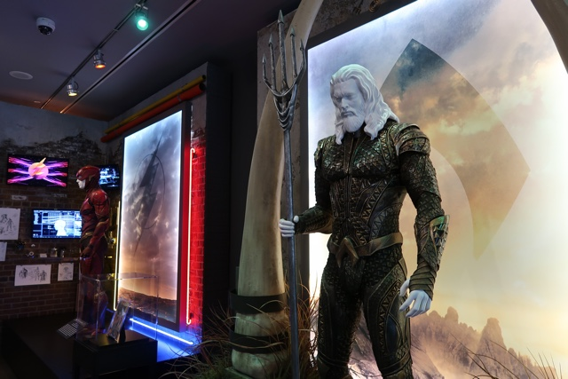 aquaman and the flash costumes from the justice league - Warner Brothers Studio Tour Review