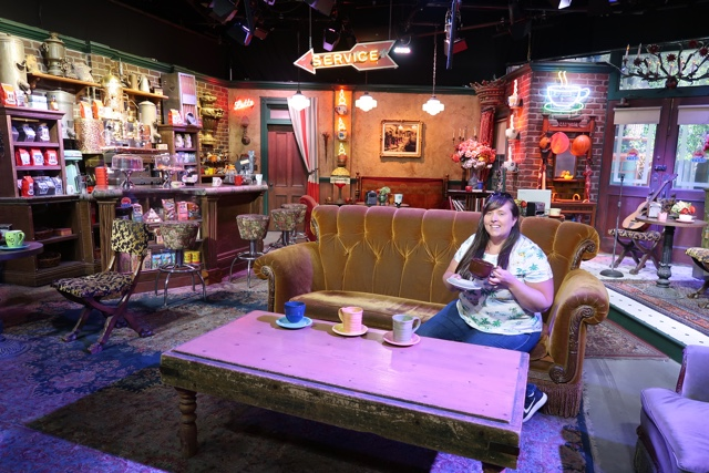 hanging out at friends central perk cafe on the warner brothers studio tour on stage 48 - Warner Brothers Studio Tour Review