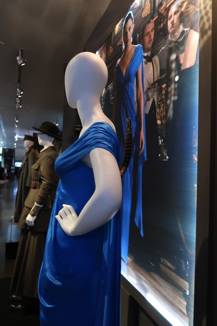 wonder woman blue dress with sword down the back gal gadot - Warner Brothers Studio Tour Review