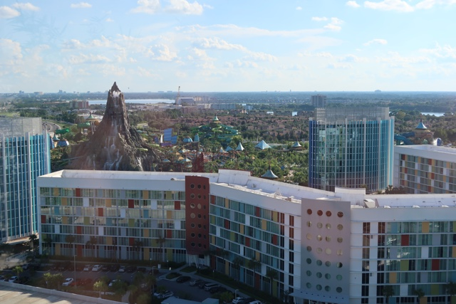 the view of Volcano bay from bar bistro 17 rooftop bar at the aventura hotel - The Aventura Hotel at Universal Orlando Review