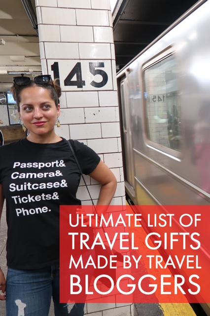 ultimate list of travel gifts made by travel bloggers - adventurous merch and more