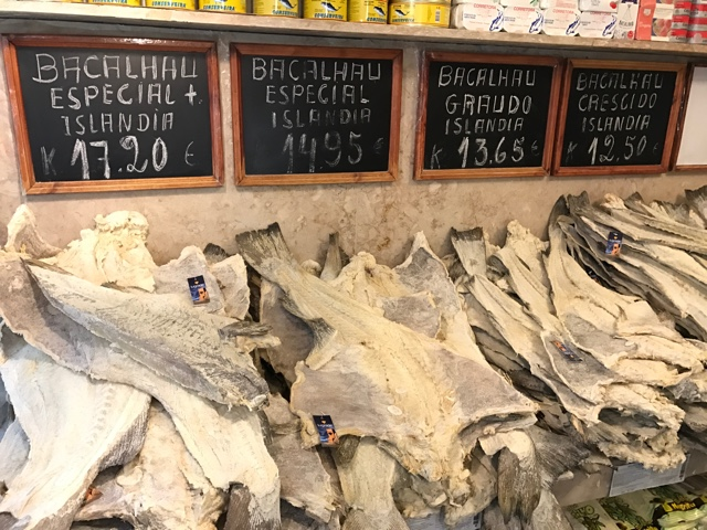 Bacalhau salt cod popular in Portugal seafood - 5 Must Try Foods in Lisbon, Portugal