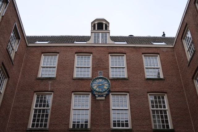 a restored clock in the courtyard of the wittenberg -The Wittenberg Aparthotel Amsterdam Review