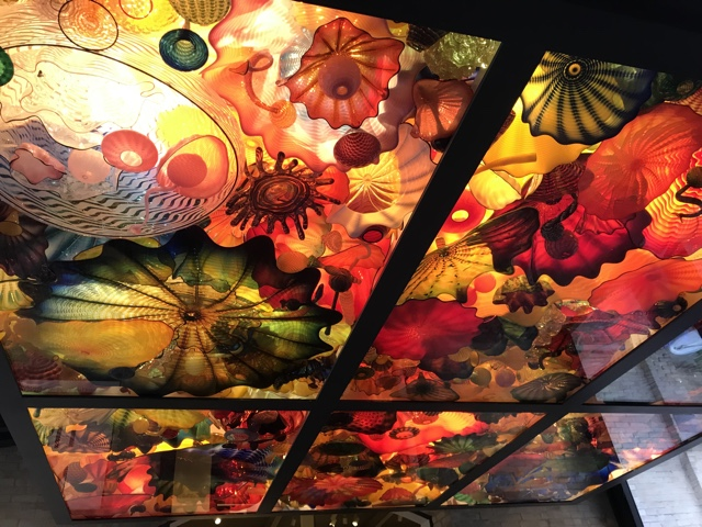 chihuly glass ceiling at the san antonio museum of art - things to do in san antonio today