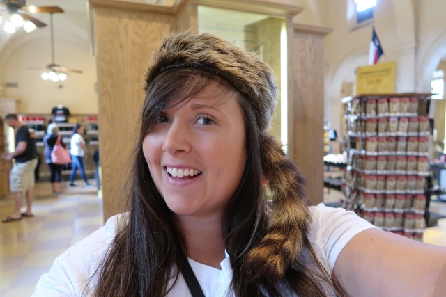 davy crockett racoon hat souvenir at the alamo - Things to do in San Antonio Today