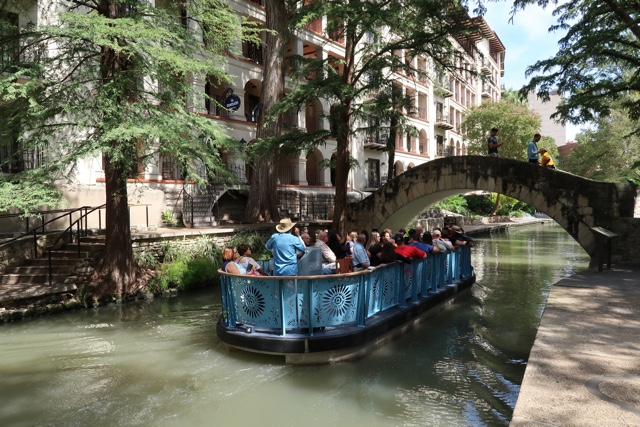 things to do in san antonio riverwalk go rio river cruises boat tour along the san antonio river walk by the selena bridge - Things to do in San Antonio Today