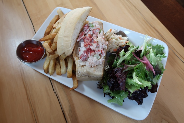 lobster role from the rhubarb restaurant - Nova Scotia's South Shore Lobster Crawl Highlights