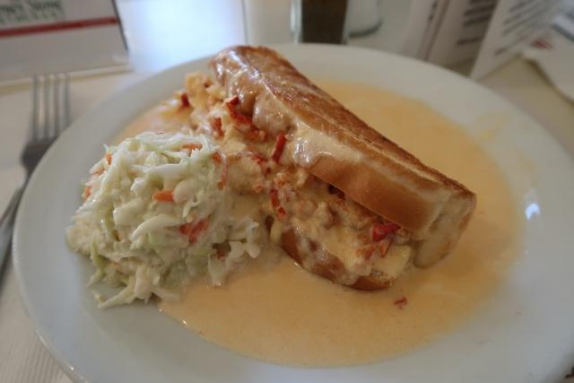 the blarney stone restaurant hot lobster roll sandwich creamed lobster - Nova Scotia's South Shore Lobster Crawl Highlights