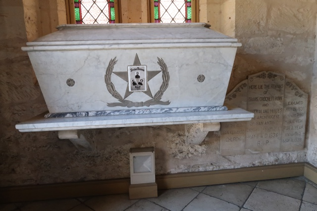 the tomb and remains of Davy Crockett, Bowie and Travis at the San Fernando Cathedral - Things to do in San Antonio Today