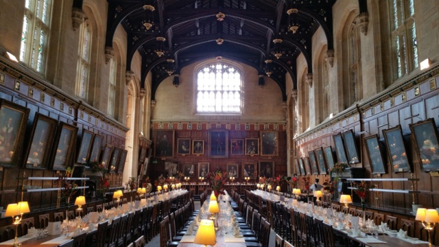 Christchurch College Dining Hall in oxford city, england hogwarts great hall inspiration