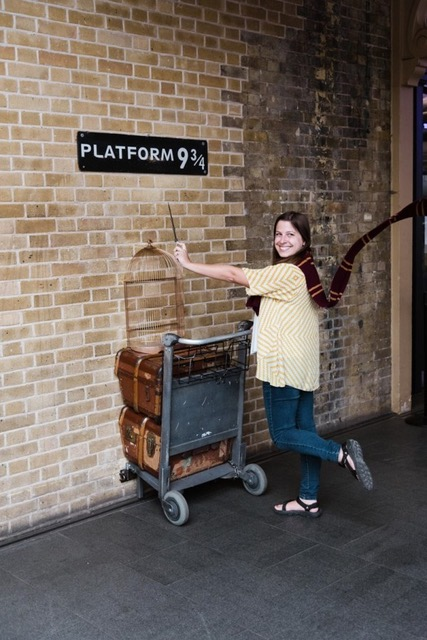 Platform 9 and 3 4s at Londons king cross station