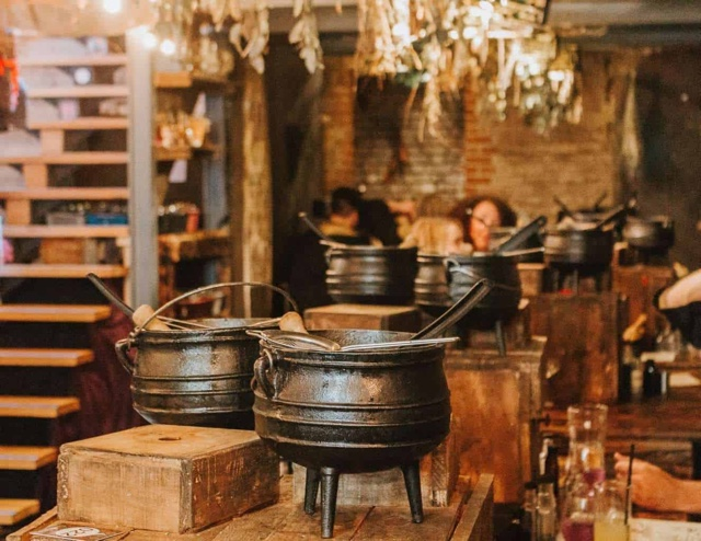 The Cauldron bar in london and new york harry potter themed bar