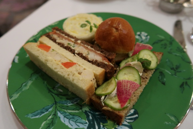 finger sandwiches with egg, pork and salmon - Afternoon Tea at the Omni King Edward Hotel Toronto