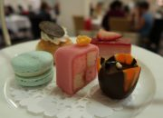 mint macaron, chocolate tulip, battenberg cake and more desserts at afternoon tea - Afternoon Tea at the Omni King Edward Hotel Toronto