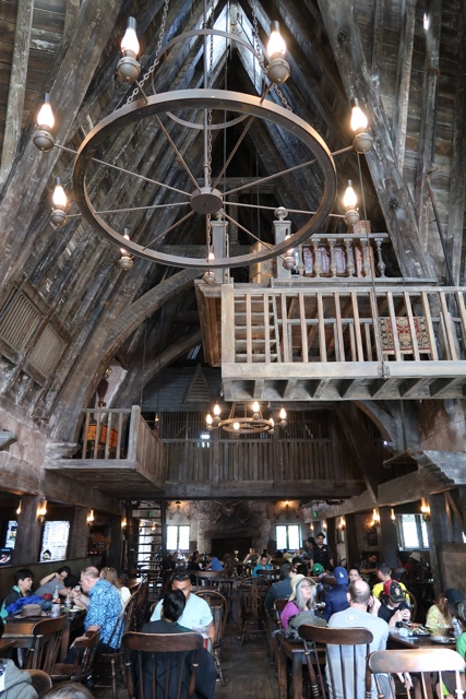 dining at the three broomsticks restaurant British pub in Hogsmeade at the wizarding world of harry potter