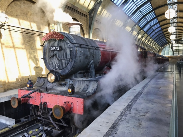 the hogwarts express at platform 9 and three quarters at the universal orlando resort