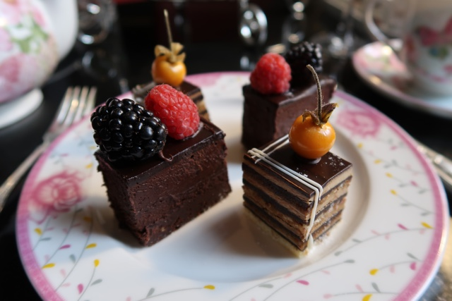 afternoon tea toronto gateau opera cake queens chocolate biscuit cake
