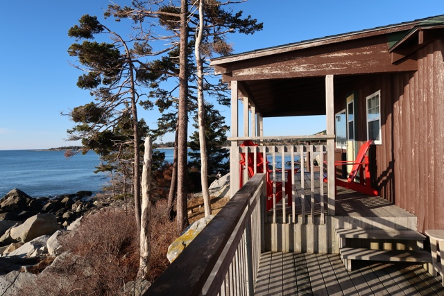 deck and view of the ocean cabin 20 - the white point beach resort