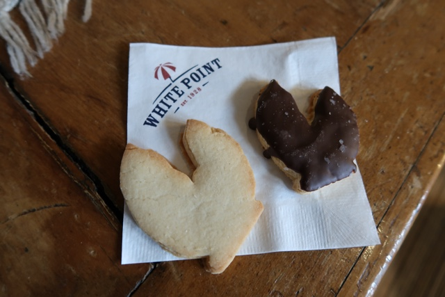shortbread lobster claw cookies with chocolate for lobster s'mores at white point