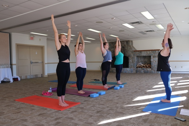 yoga at the white point beach resort girls weekend