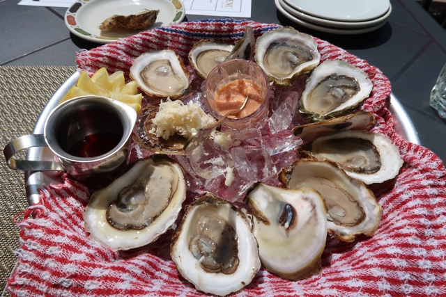 fresh oysters shucked at the landmark oyster house in victoria by the sea pei