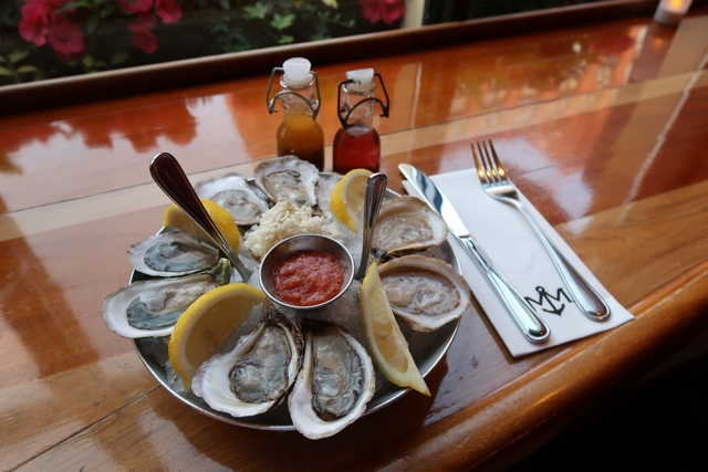oysters at the merchantman restaurant charlottetown