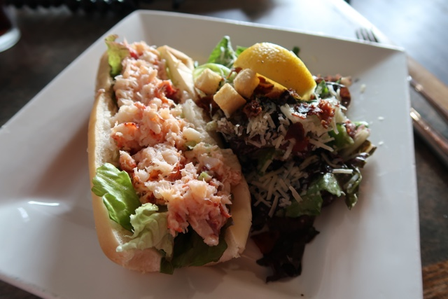 the malpeque oyster barn lobster roll