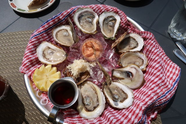 various malpeque oysters at the landmark oyster house in victoria by the sea