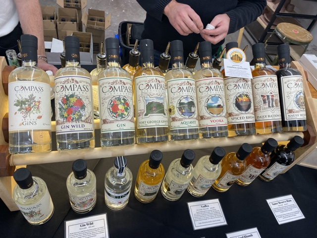 Compass Distilling at the distillers market - Nova Scotia Craft Spirits Festival