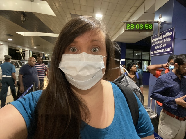 cailin oneil with a face mask travel during a global pandemic in sri lanka